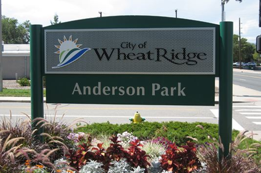 Anderson Park Front Entry Sign