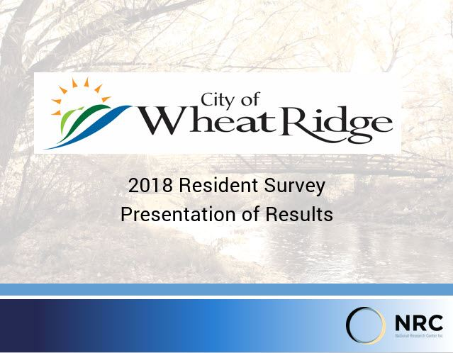 Screen capture of Presentation Cover of Resident Survey 2018