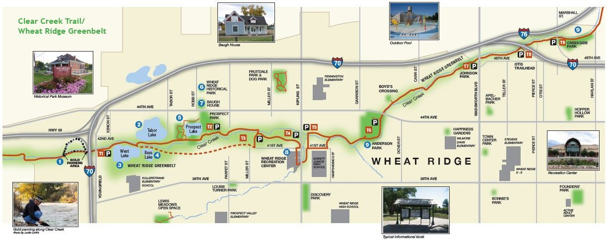 Clear Creek Trail Map