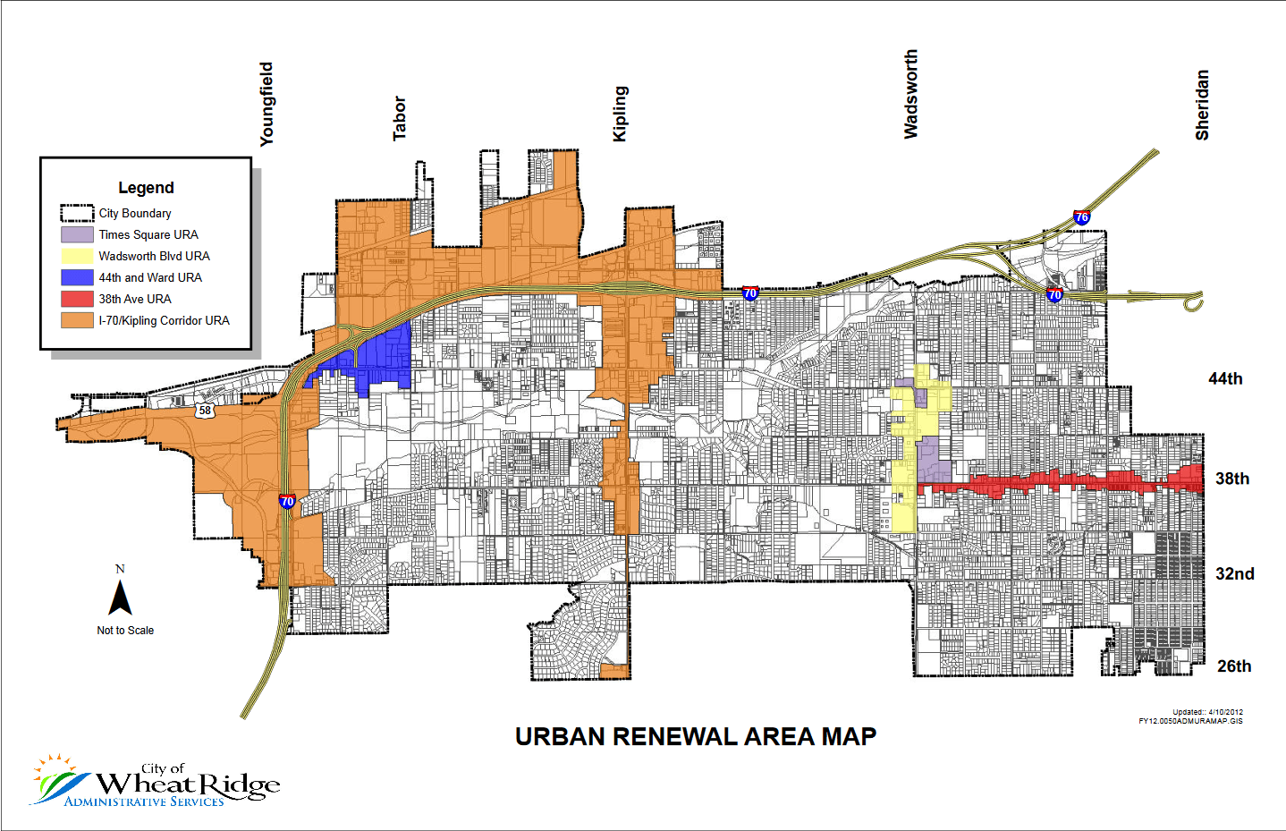 Urban Renewal Area Map