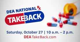 Drug Take Back Day poster for 2018