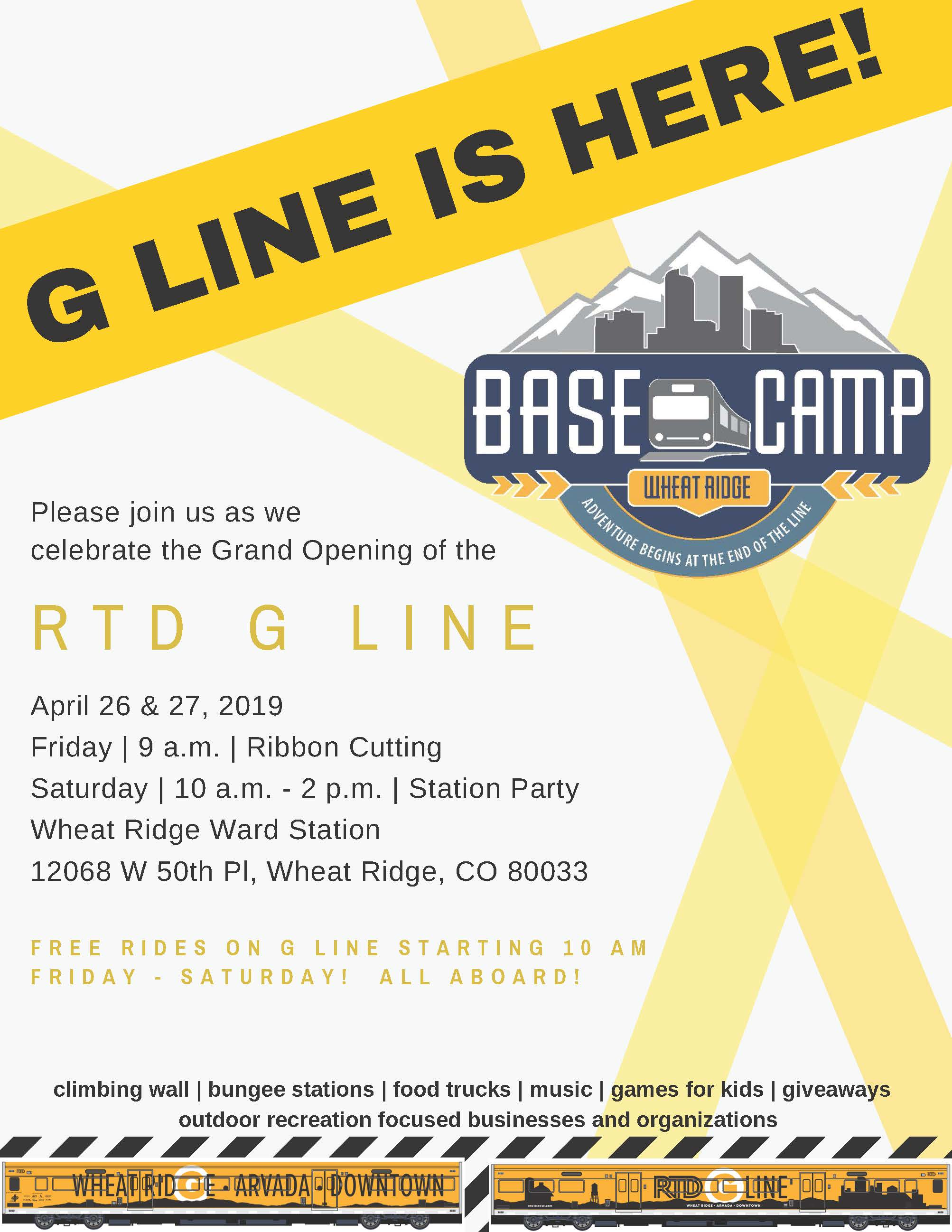 G Line Opening April 27, 2019