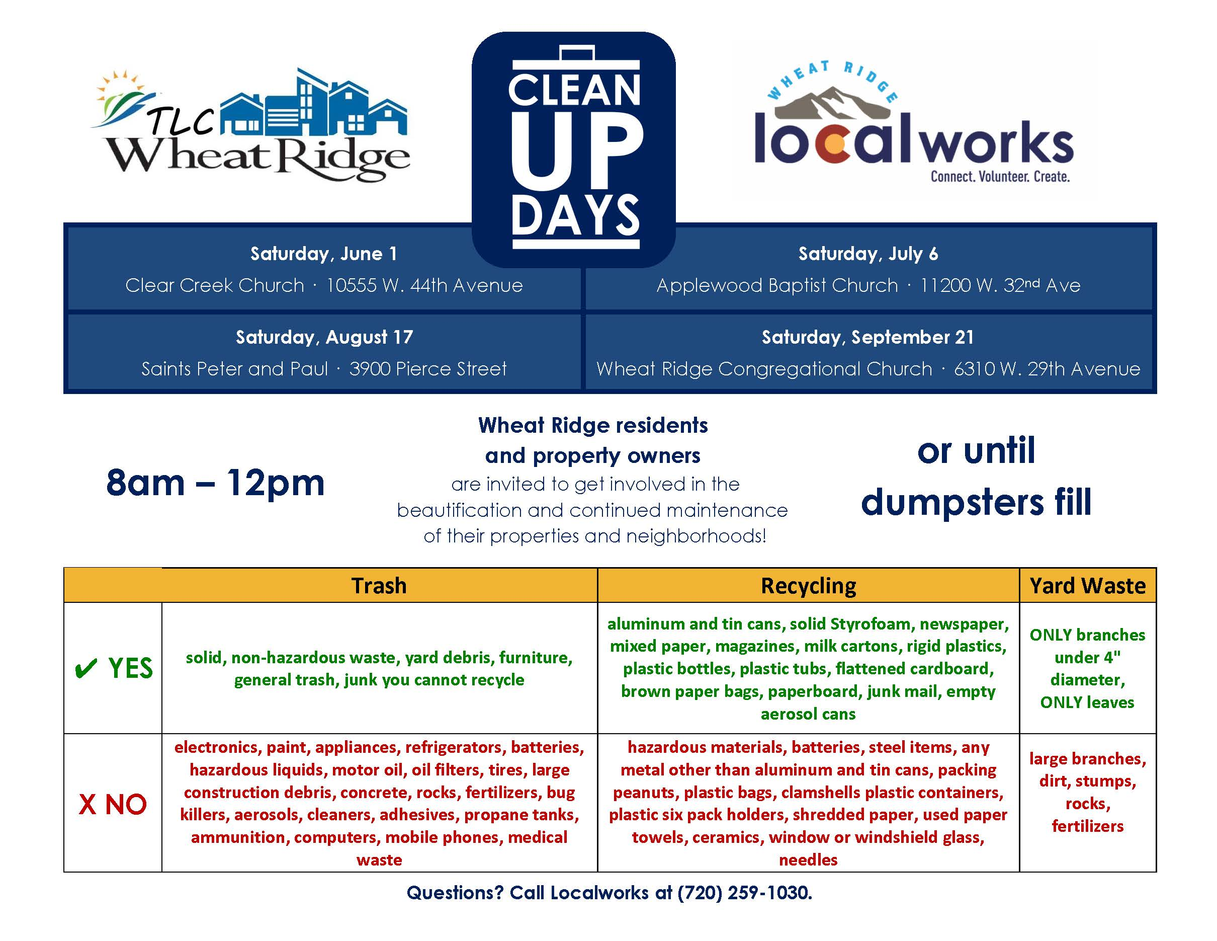 Full Clean Up Days Flyer 2019