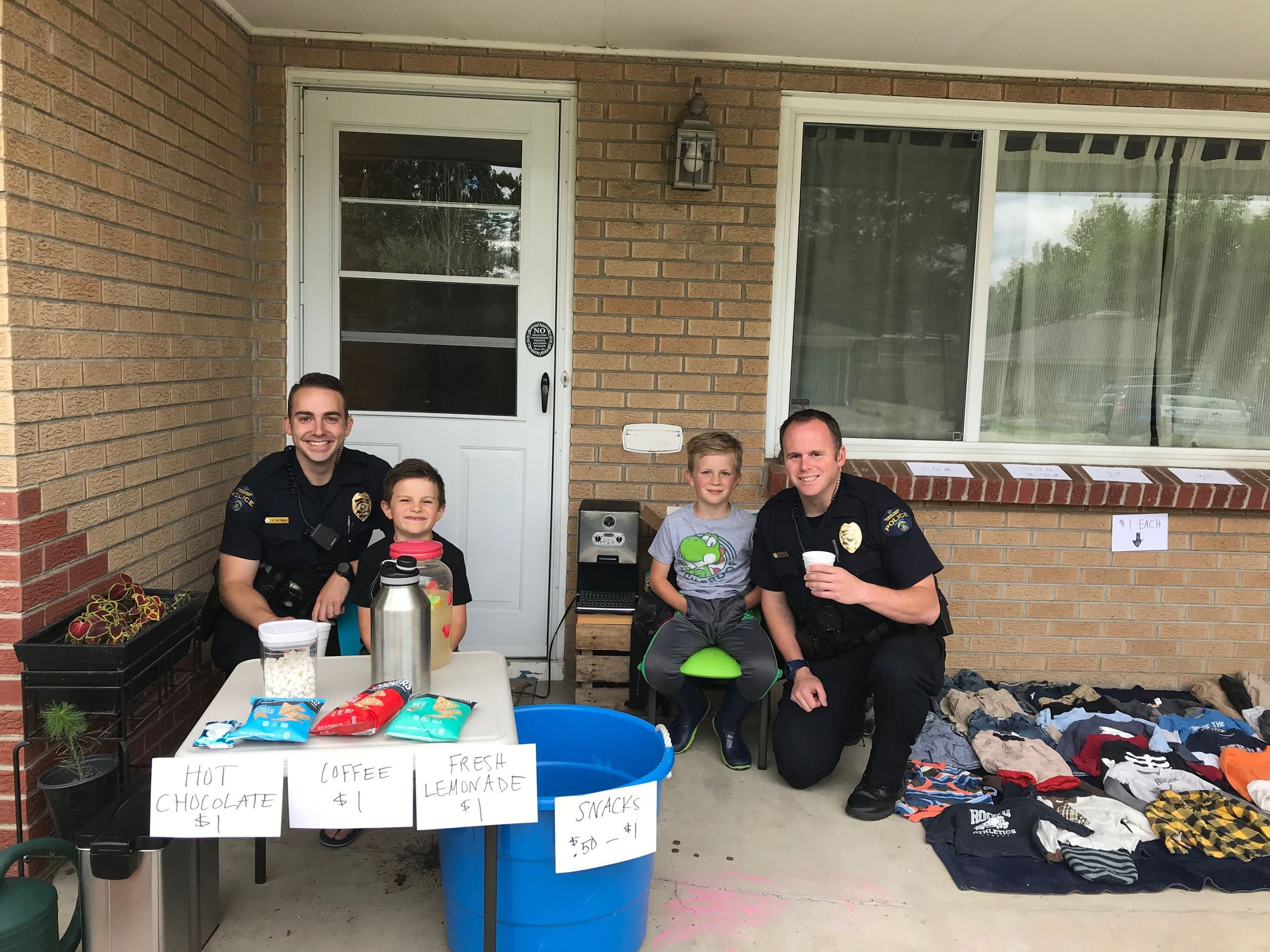 Officers at Lemonade Stand