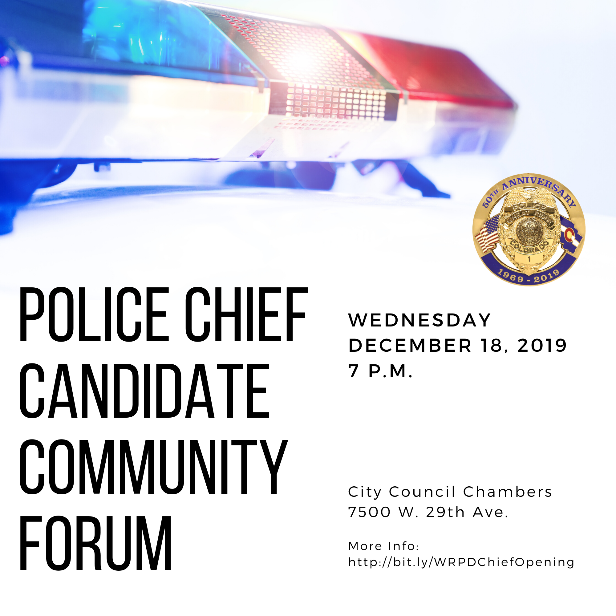 Police Chief Community Forum