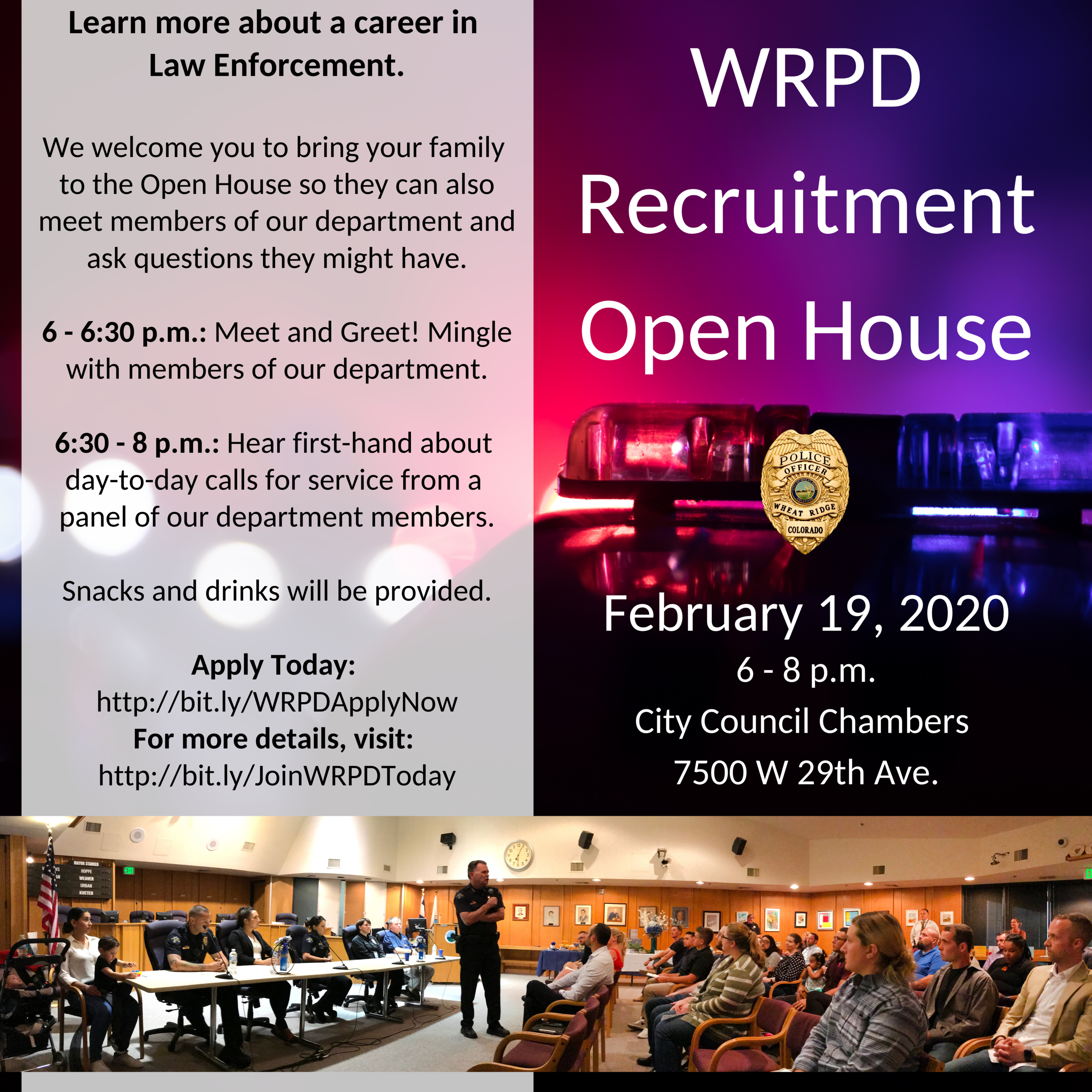 WRPD Recruitment Open House Feb 2020