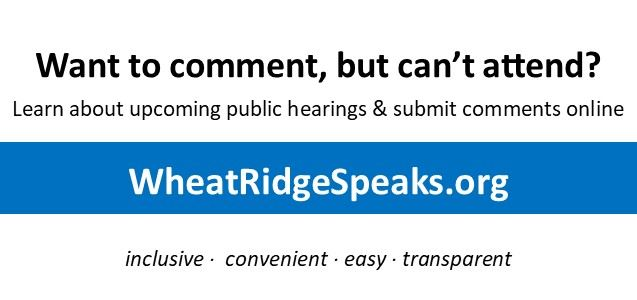 Wheat Ridge Speaks link