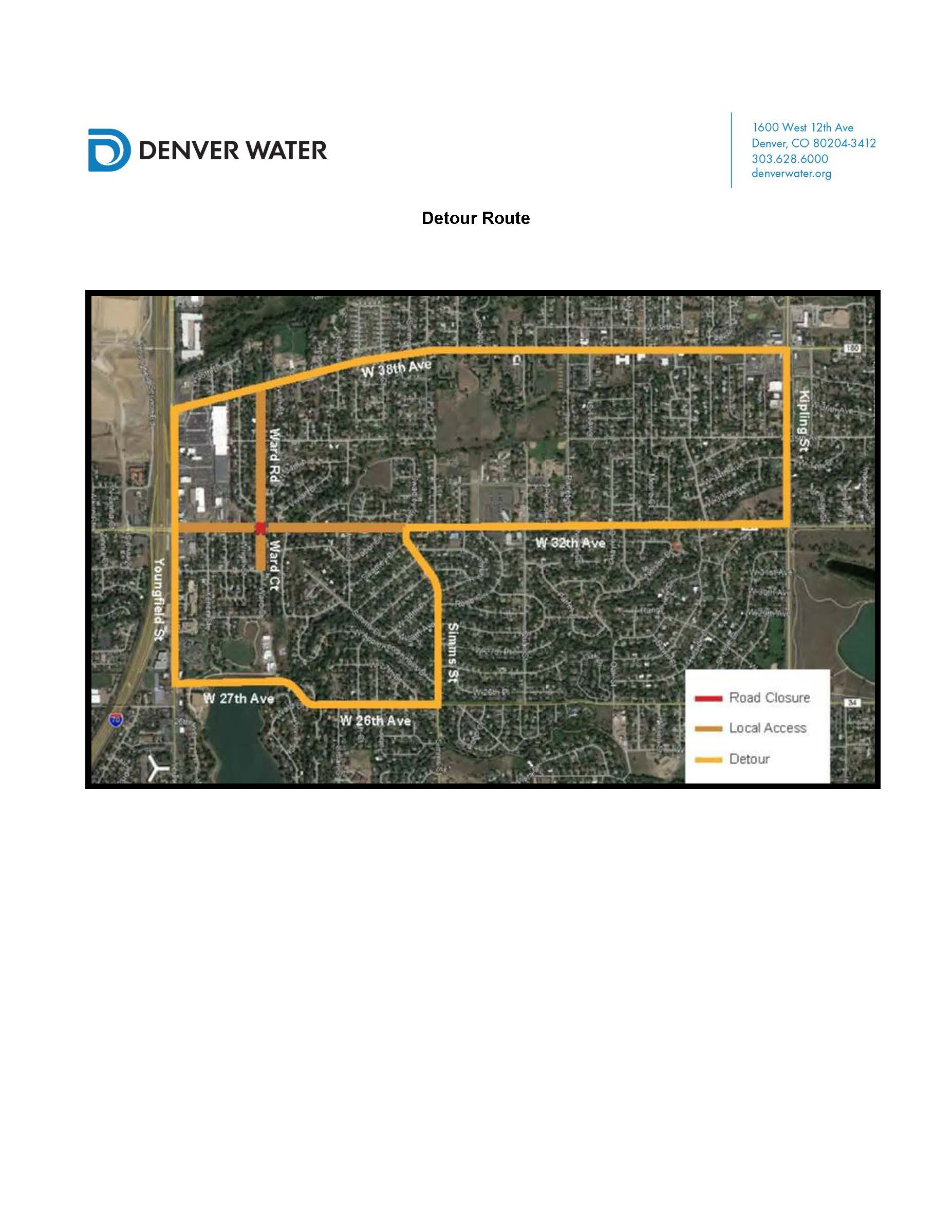 32nd Ave Detour Map