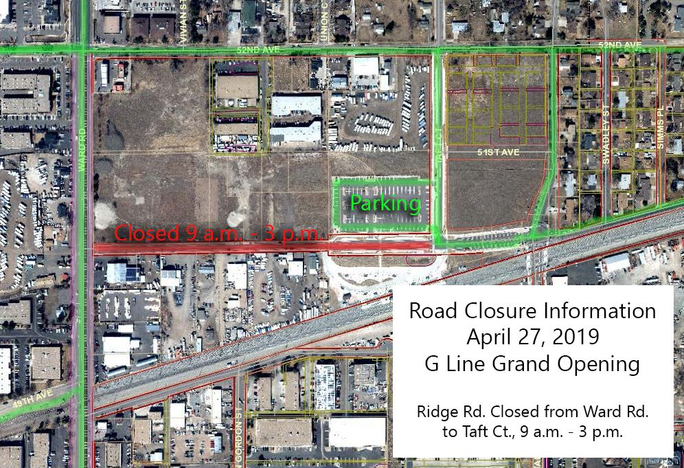 Road Closure info for G Line Opening