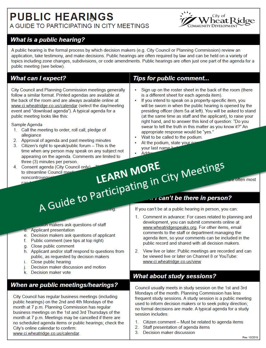 Public Hearings - Guide to Participating - THUMBNAIL green Opens in new window