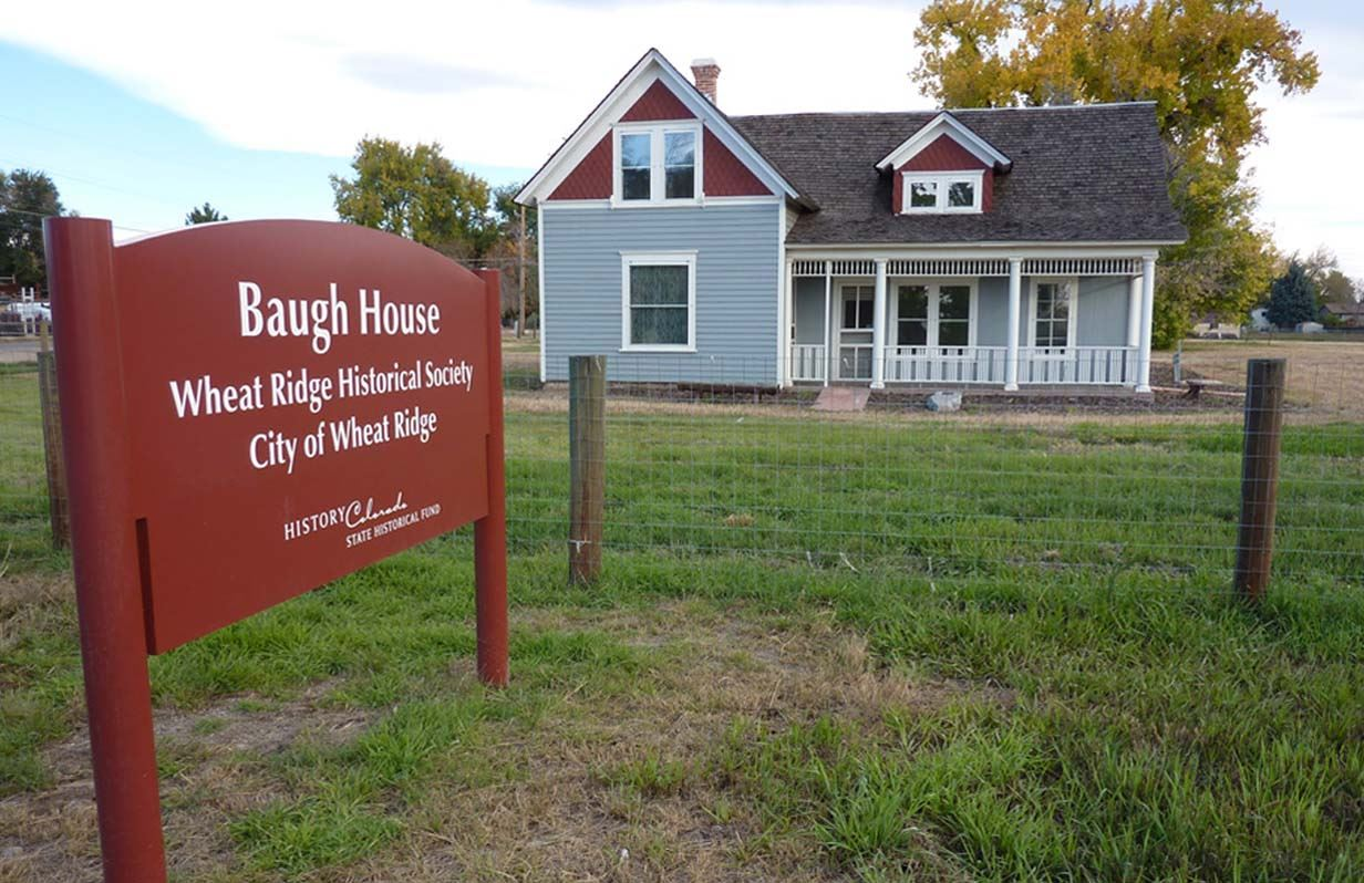 Baugh House and sign